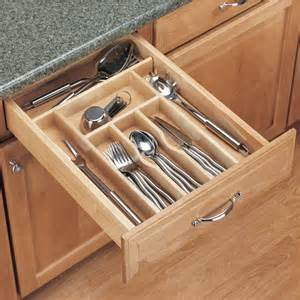 drawer organizers rev a shelf wood cutlery tray drawer