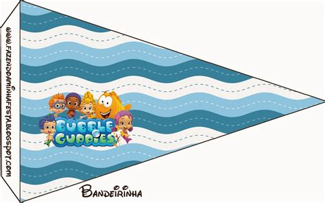 the gallery for gt guppies birthday banner template