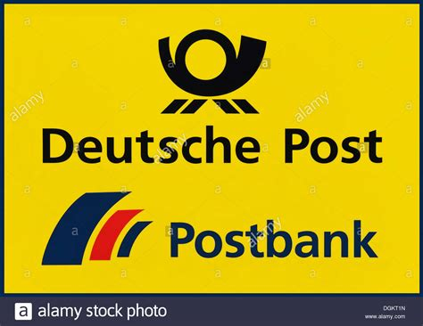 postbank deutsche bank sign deutsche post postbank stock photo royalty free