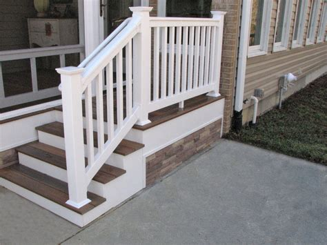 banisters and railings vinyl railings and banisters look attractive exterior