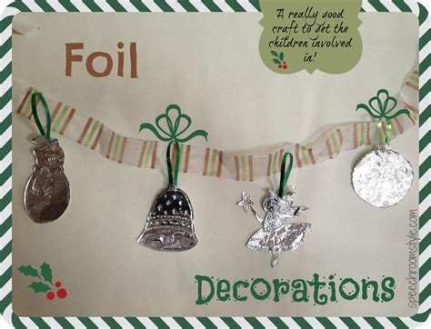 easy decoration crafts easy crafts 2 foil decorations speech room style