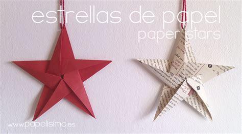 c 243 mo hacer estrellas de papel cinco puntas papelisimo