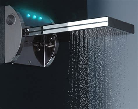 mp3 shower by bossini ipod shower with speakers light