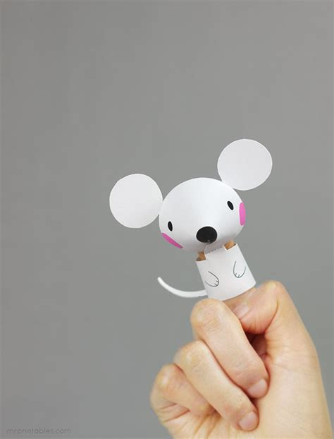 finger mouse template free printable animal finger puppets for mr
