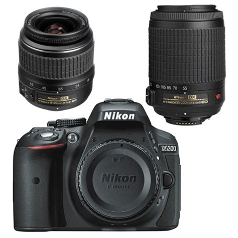Dslr Nikon D5300 18 55mm Vr nikon d5300 dslr kit with 18 55mm non vr and 55