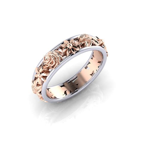 Wedding Ring Floral Design by Floral Wedding Ring Jewelry Designs