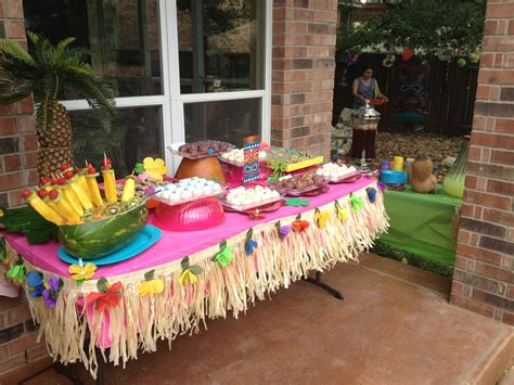 backyard luau party ideas luau dessert table luau party inspirations pinterest luau desserts luau and