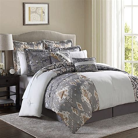bed bath and beyond hadley hadley 8 piece comforter set in white bed bath beyond