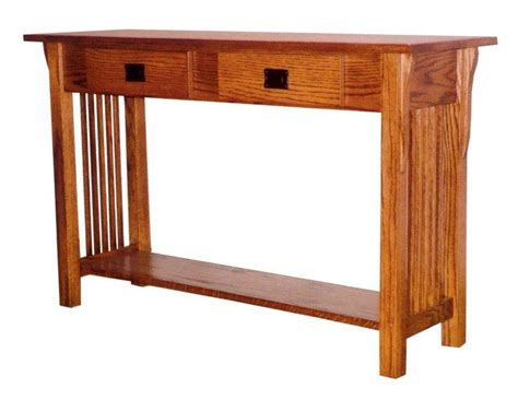 Amish Prairie Mission Sofa Table With 2 Drawers Mission Sofa Table