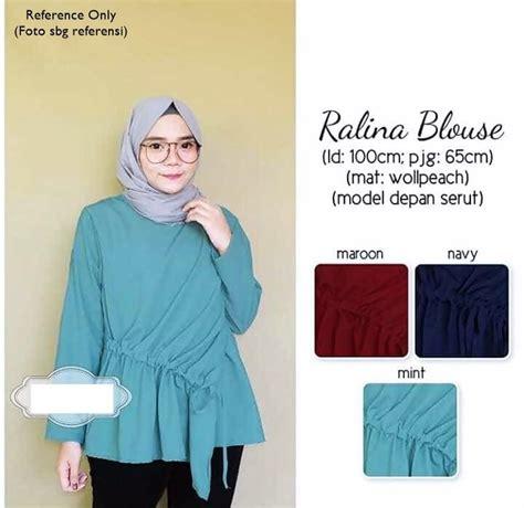 Harga Gamis Merk Annisa baju tunik muslim terbaru ralina blouse baju gamis