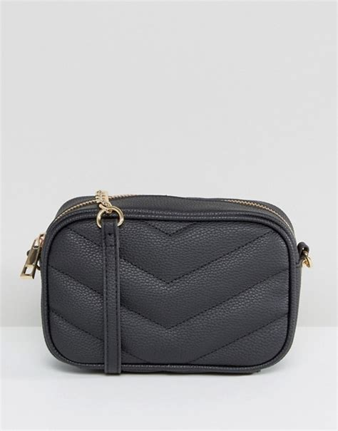 Quilted Backpack Bags by Asos Asos Bag With Quilted Chevron Cross Bag