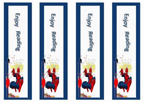 printable birthday bookmarks spiderman bookmarks birthday printable birthday ideas