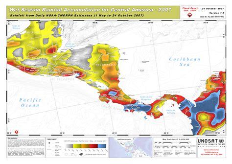 america rainfall map season rainfall accumulation for central america