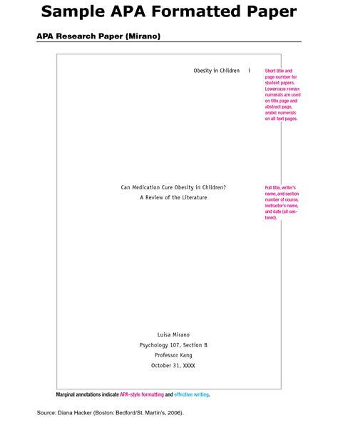 format paper apa reaction paper