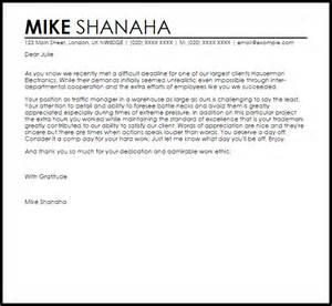 Letter of appreciation for hard work sample letter samples