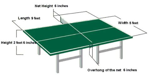 Meja Billiard Standard table tennis room size court and table dimensions