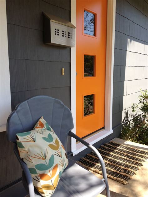 blue house orange door 17 best images about doors mid century modern on pinterest