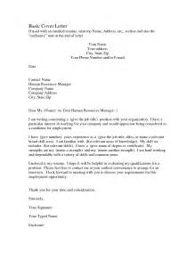 templates for cover letters for resumes 10 best images of basic cover letter for resume sle