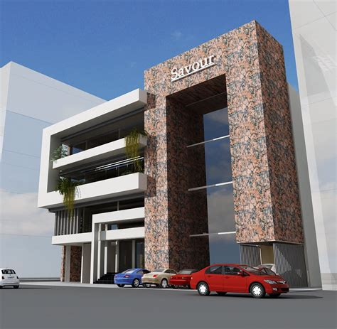 South Indian House Front Elevation Designs 3d commercial plaza 26 tower front elevation 102 jpg