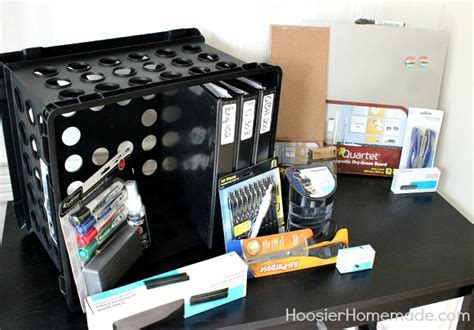 Back To School Desk Organization Hoosier Homemade College Desk Organization