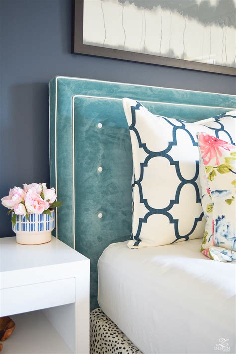 velvet tufted headboard tall white also blue interalle com