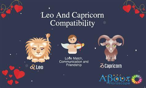 leo and capricorn compatibility love friendship
