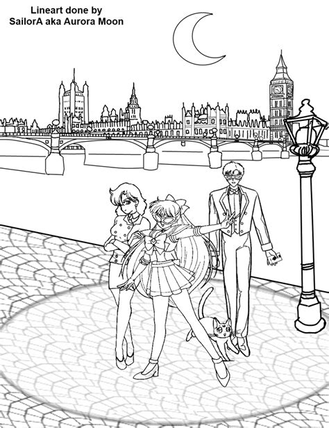 Sailor V Coloring Pages sailor v coloring page image by moon on deviantart