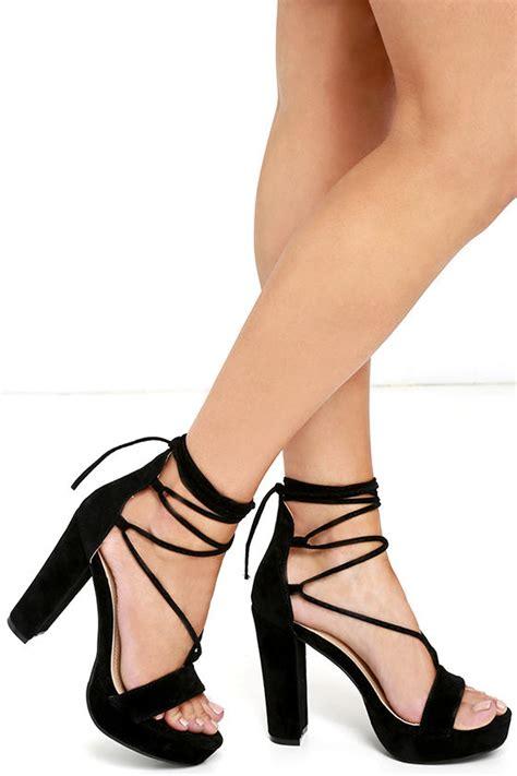 high heel stilettos black heels platform heels lace up heels vegan