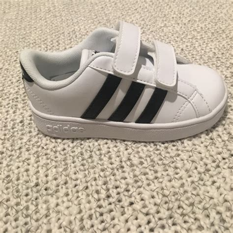 34 adidas other new toddler adidas 7 5 classic black white velcro from katelyn s closet