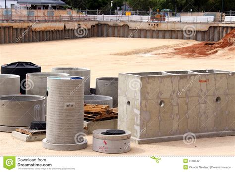 precast pit precast concrete in construction site pit stock