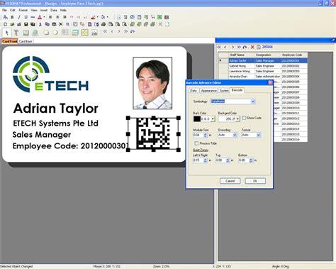 id card printing design software pesona card design software id card printer plastic