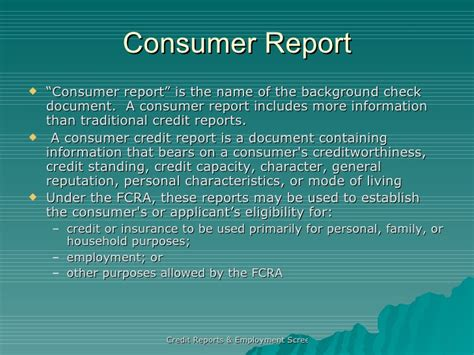 Cra Background Check Credit Reports Employment Screenings