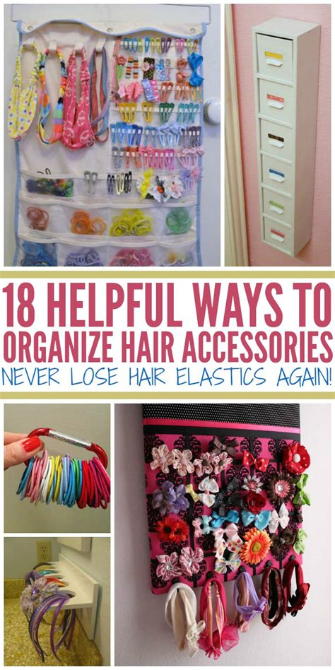organise or organize how to organize hair accessories never lose hair elastics