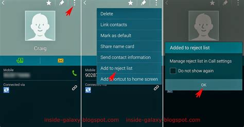 reject list android samsung galaxy s5 how to add or remove contact from the reject list in android 4 4 2 kitkat
