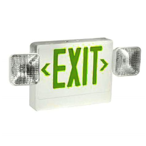 Exit Light Fixtures Tcp 20785 Indoor Exit Emergency Combination Led Fixture