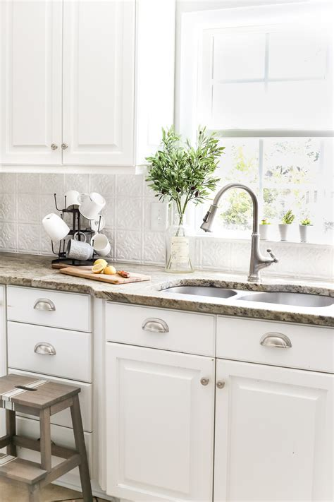 tin backsplash kitchen