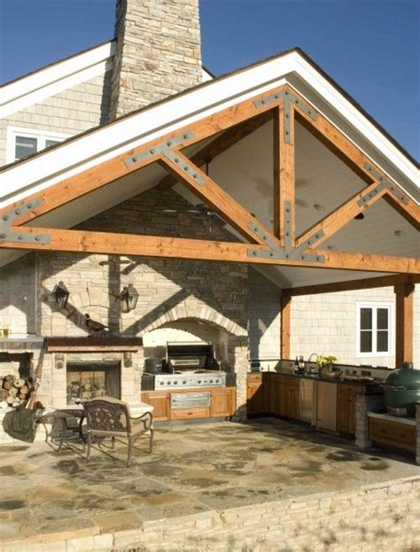 Post And Beam Patio Cover by Outdoor Kitchen Post And Beam