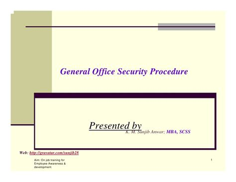 Procedure Of Mba After M by General Security Order For Office