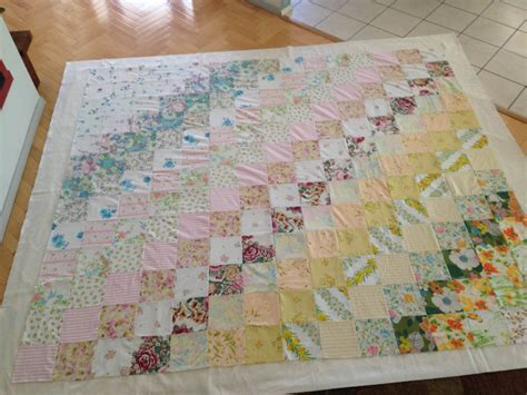 Vintage Patchwork Throw - vintage patchwork quilt needle and foot