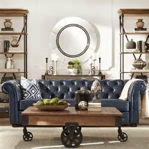 tribecca home furniture tribecca home knightsbridge navy blue bonded leather