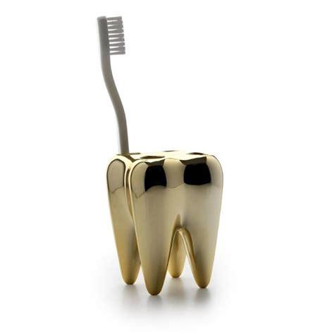 Propaganda Tooth   Toothbrush Holder   Gold #1310203   Propaganda 1310203
