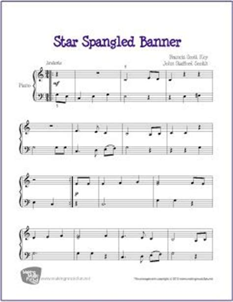coloring page of the star spangled banner 30 best images about easy patriotic piano sheet music for