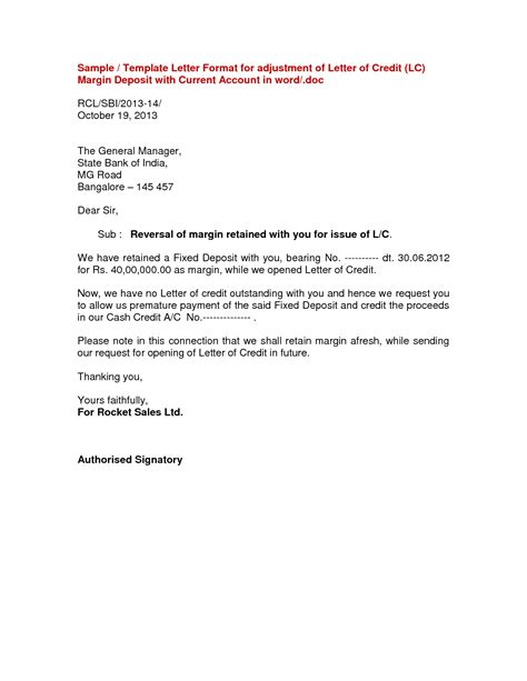 Transfer Booking Letter fund transfer letter template