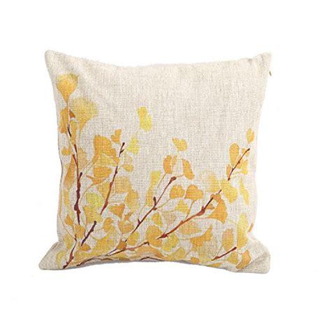 Sarung Bantal Cushion Impor Yellow Flower createforlife home decor cotton linen square pillowcase yellow flower tree printed throw pillow