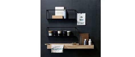 black metal wall shelf 50cm miliboo