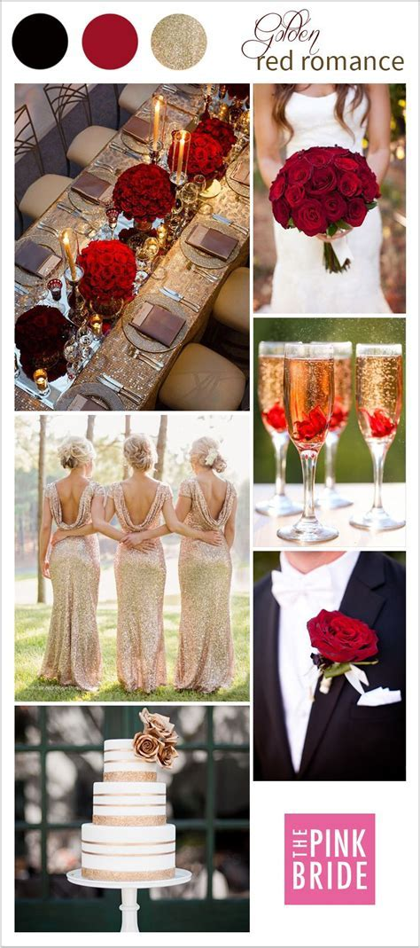 Wedding Color Board: Golden Red Romance   Classic weddings