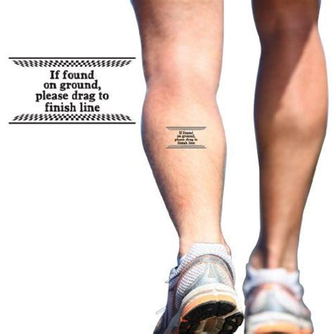 tattoo inspiration fitness running tattoos if found on ground temporary running