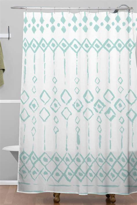 boho shower curtains boho loco blue woven shower curtain wonder forest