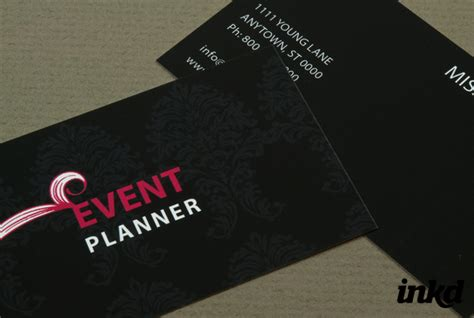 event coordinator business card templates event planner business card by inkddesign on deviantart