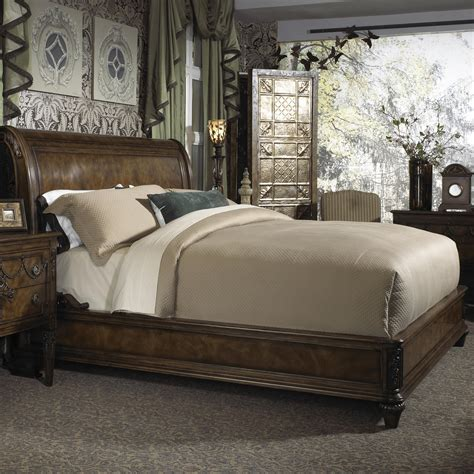 Sleigh Bed No Footboard by King Traditional Sleigh Bed With Low Profile Footboard By